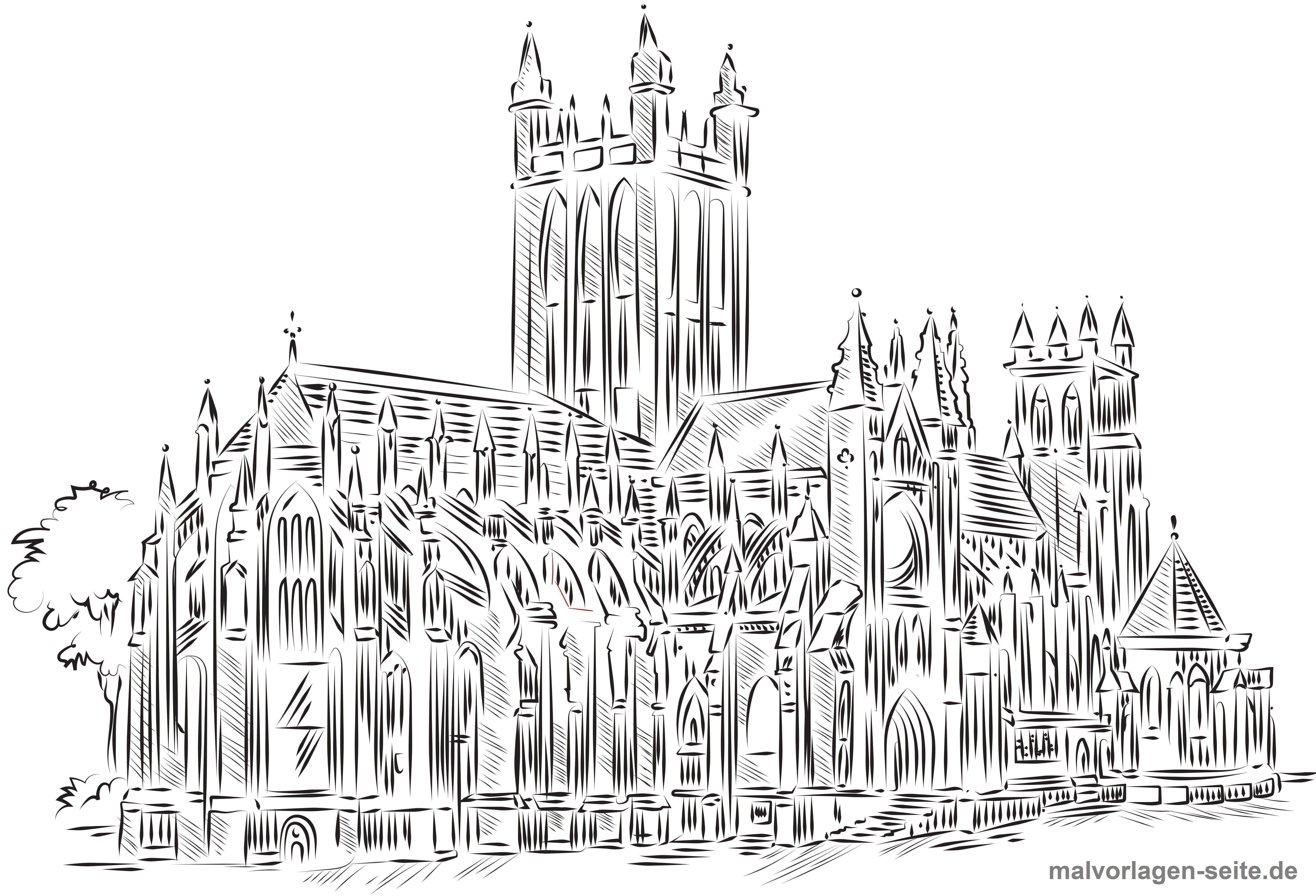 Malvorlage Für Erwachsene Kathedrale Gratis Malvorlagen Zum Download