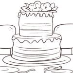 着色页婚礼蛋糕| 婚礼