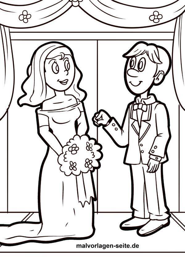 Malvorlage Hochzeitspaar