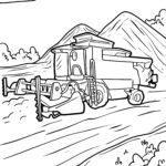 Coloriage moissonneuse-batteuse | Ferme de véhicules