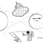 Coloring page outer space