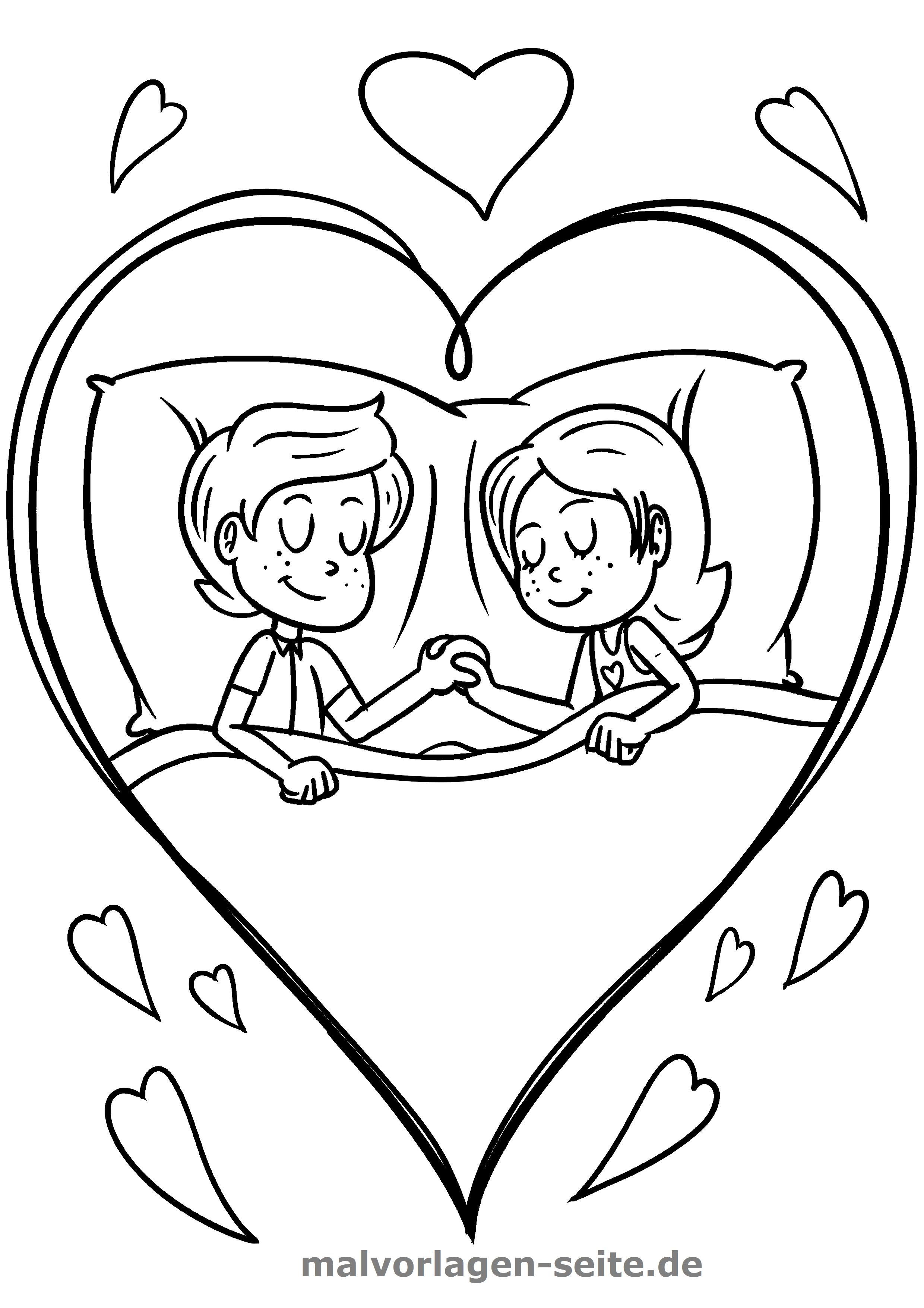 Malvorlage Ich liebe Dich | Gratis Malvorlagen zum Download