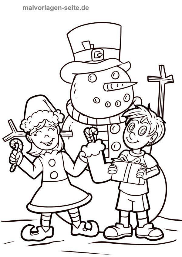Dibujo para colorear Navidad | Páginas para colorear gratis para ...