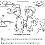 Children's Songs Sheet Music and Lyrics - Music for Children