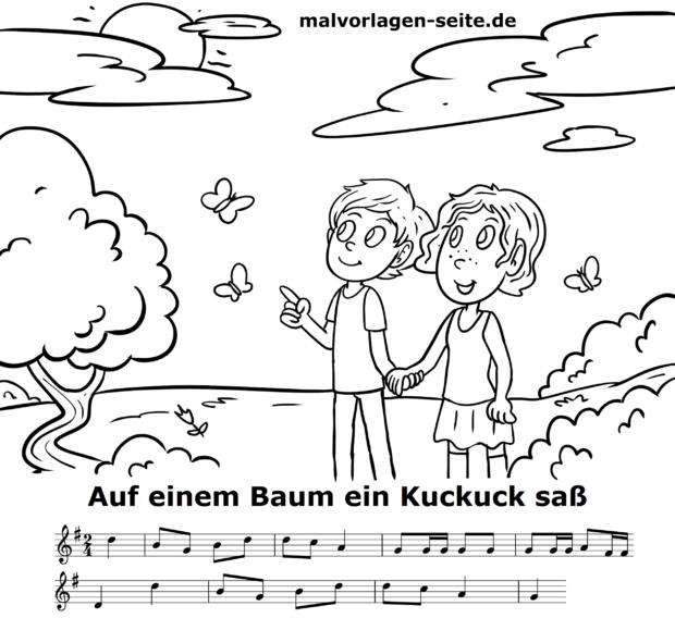Muziko kaj teksto Kukolo sidis sur arbo