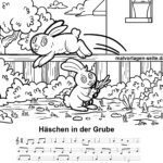 Bunny in the pit - sheet music and text