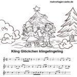 Kling Glöckchen Klingelingeling - Noten und Text