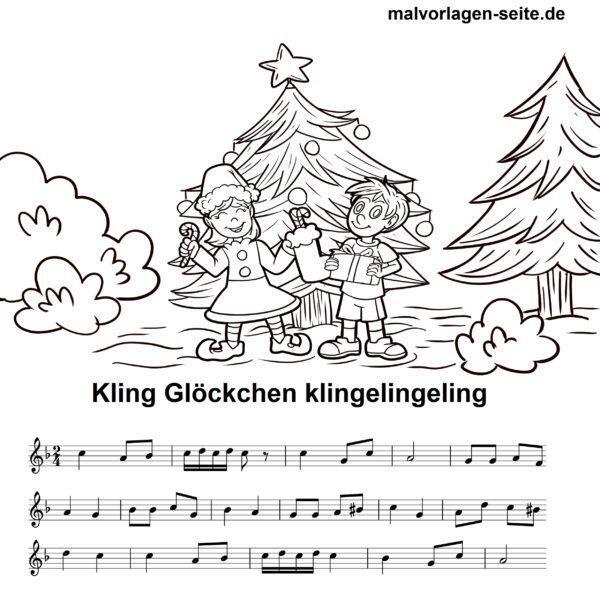 Weihnachtslieder Noten Und Texte Kostenlos.Noten Und Text Kling Glöckchen Klingelingeling Zum Ausdrucken