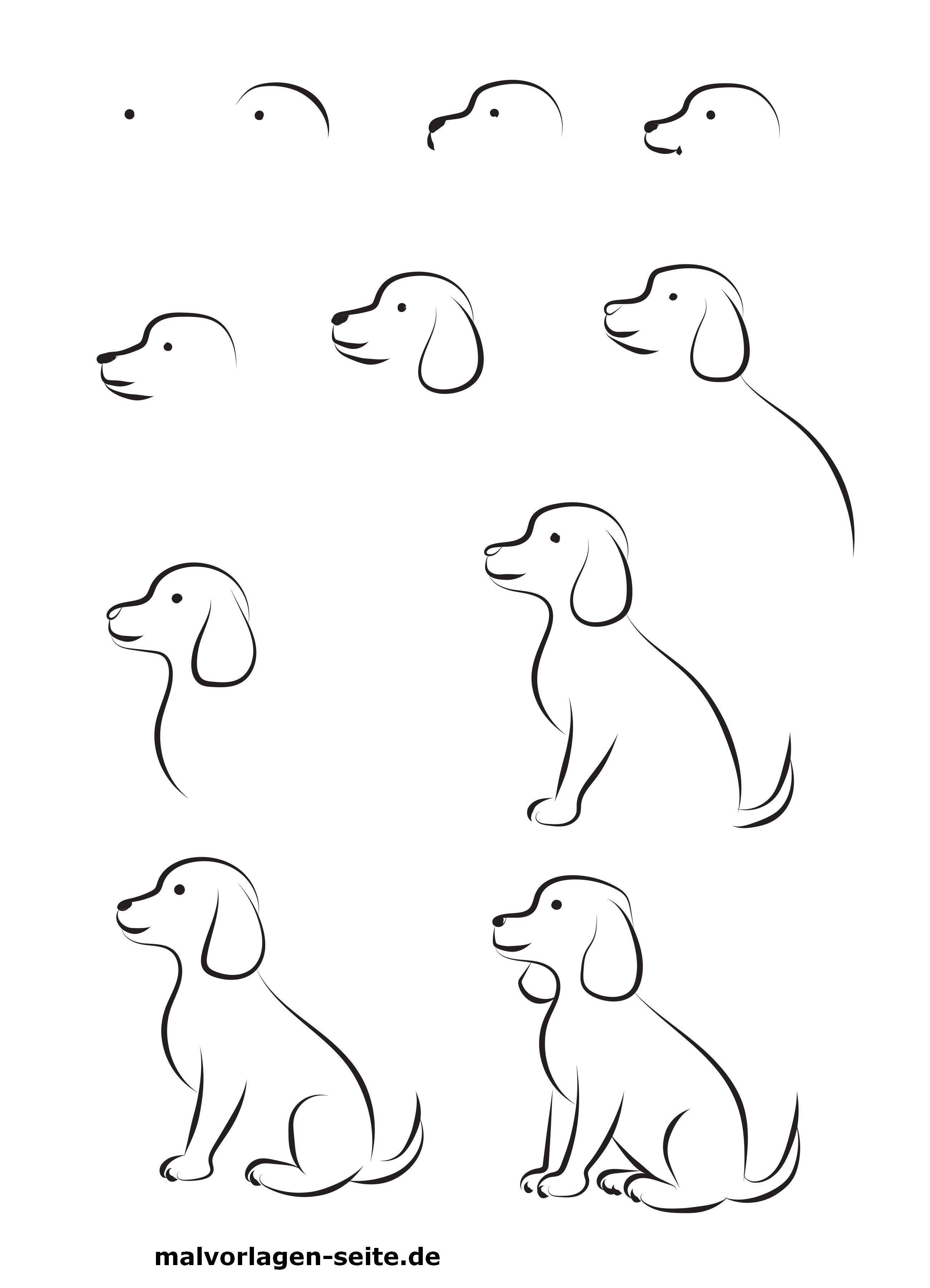 Wie Malt Man Einen Hund