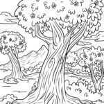 Coloring page trees | plants
