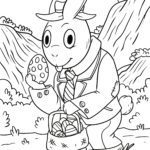 Coloring page Easter bunny | Easter