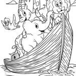 Coloring page Religion - Noah's Ark