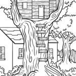 Coloring page Treehouse | building