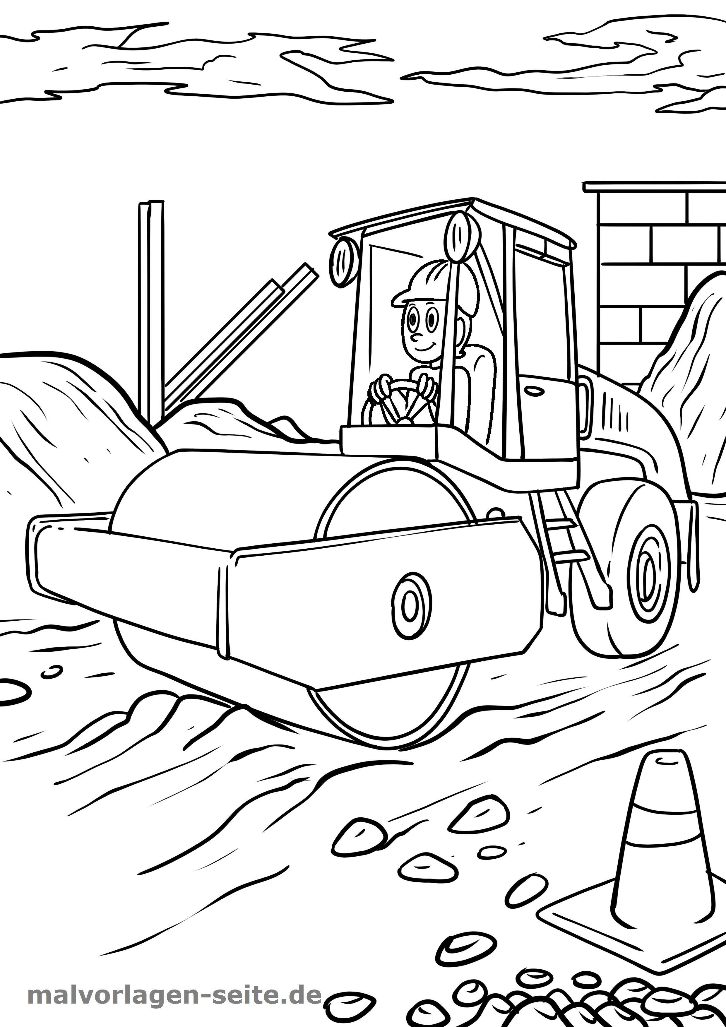 Malvorlage Baustelle Gratis Malvorlagen Zum Download