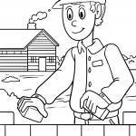 Кніжка-размалёўка майстра на будоўлі