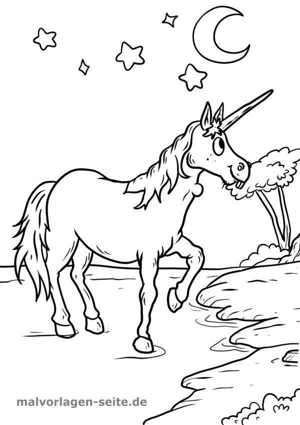Mewarnai Halaman Unicorn Halaman Mewarnai Gratis Untuk Diunduh