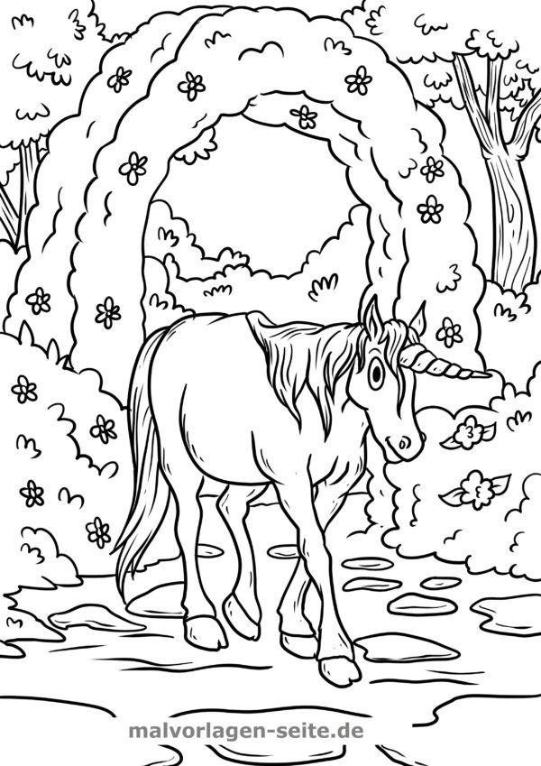 Coloring page unicorn rose bow