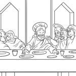 Coloring page Religion - The Last Supper