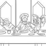 Malvorlage Religion – Abendmahl