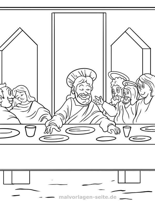 Malvorlage Jesus Abendmahl
