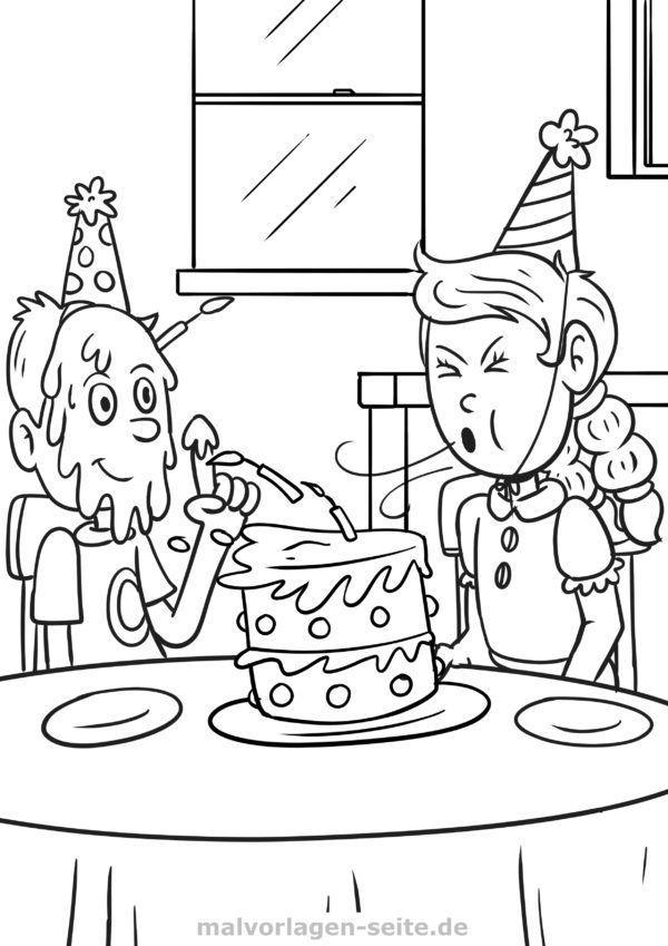Página para colorear de cumpleaños | Páginas para colorear gratis ...