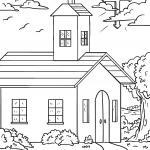 Churches Coloring Pages building