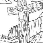 Coloring page Religion - Crucifixion Jesus