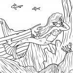 Ausmalbilder Meerjungfrauen - Kostenlose Ausmalbilder