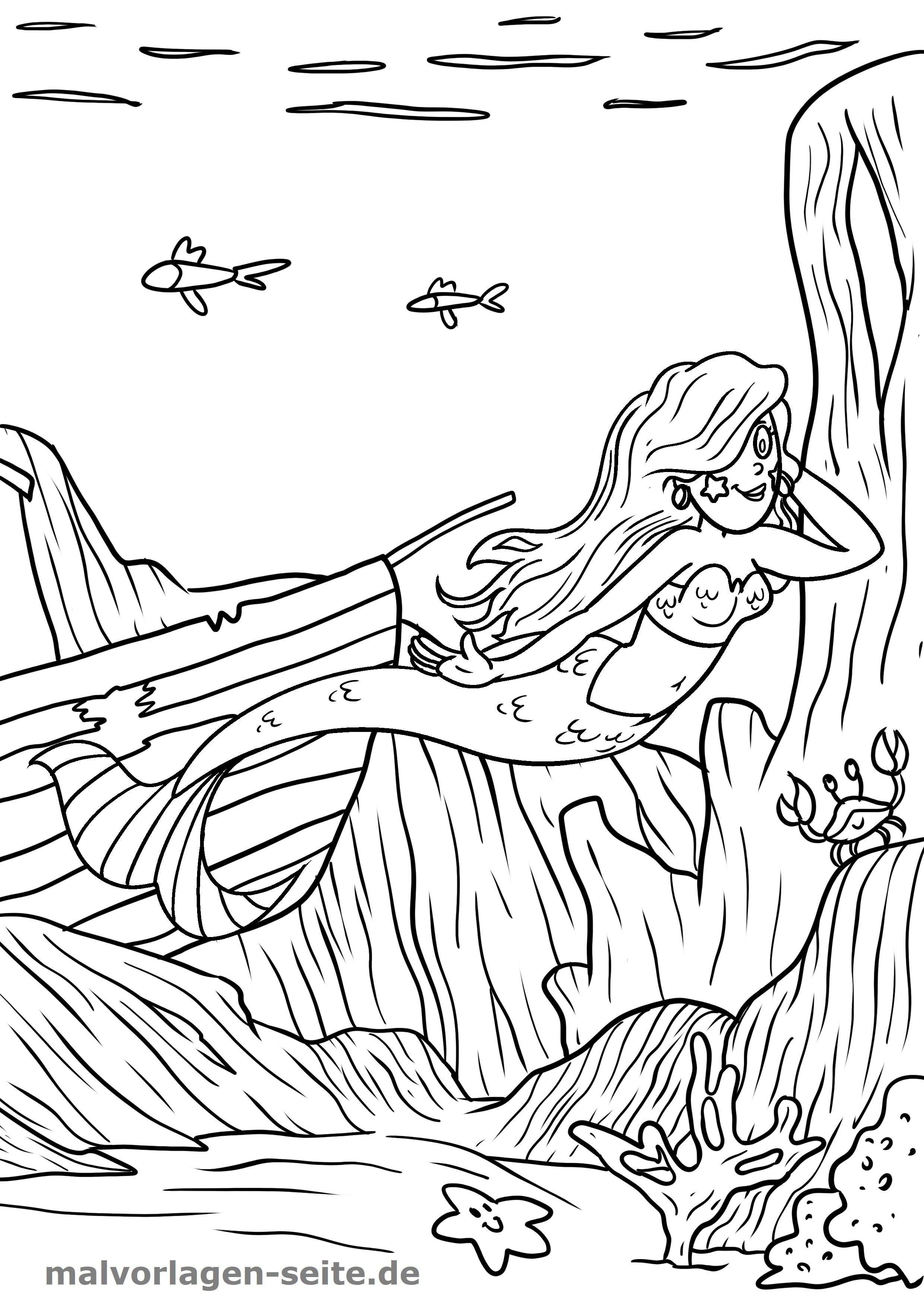 Malvorlage Meerjungfrau Gratis Malvorlagen Zum Download