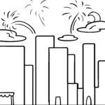 Coloring page Happy New Year | public holidays