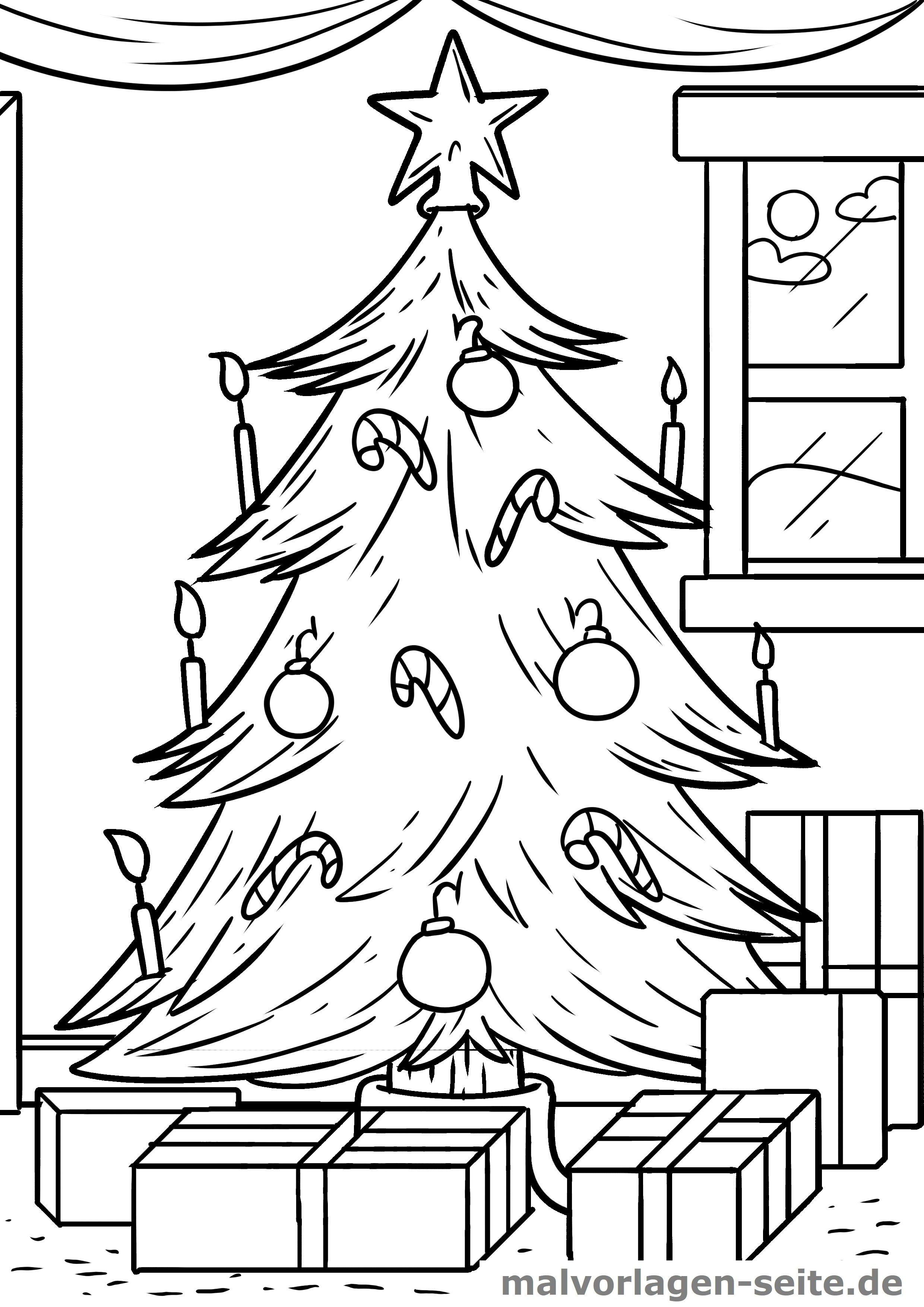 Malvorlage Weihnachtsbaum Gratis Malvorlagen Zum Download
