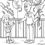 Coloring page circus balloons