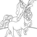 Coloring page circus horses