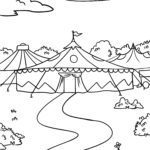 Coloring page circus circus tent