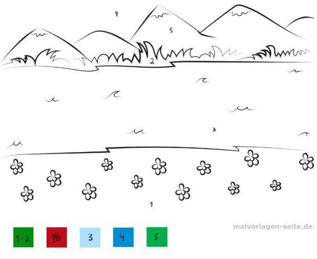 Malen nach Zahlen - Landschaft