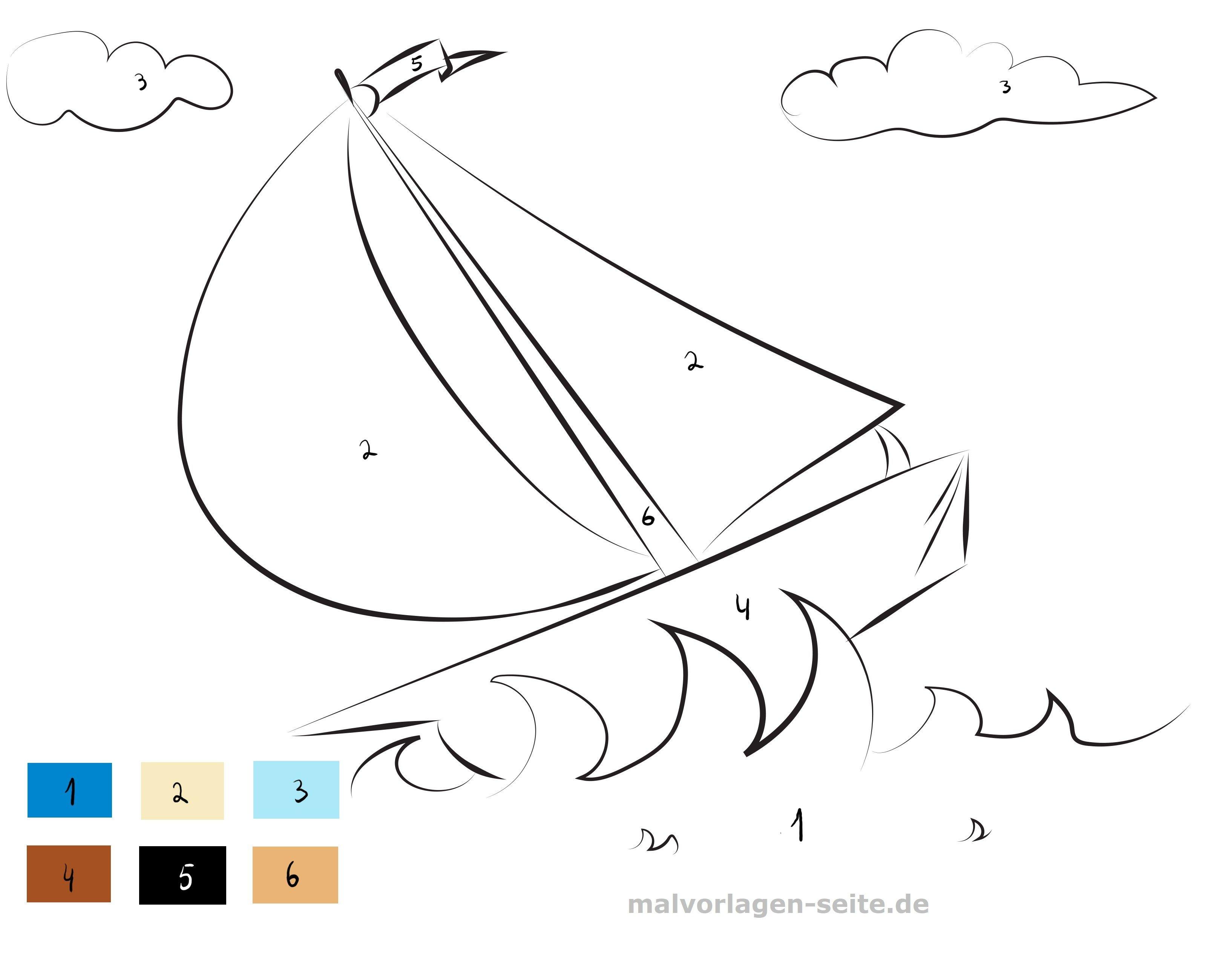Malen Nach Zahlen Schiff