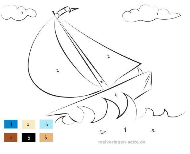 e17d5c728354 Maľovanie podľa číselných lodí Voľné farebné stránky na stiahnutie