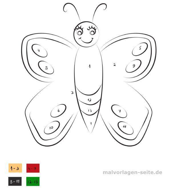Malen nach Zahlen - Schmetterling