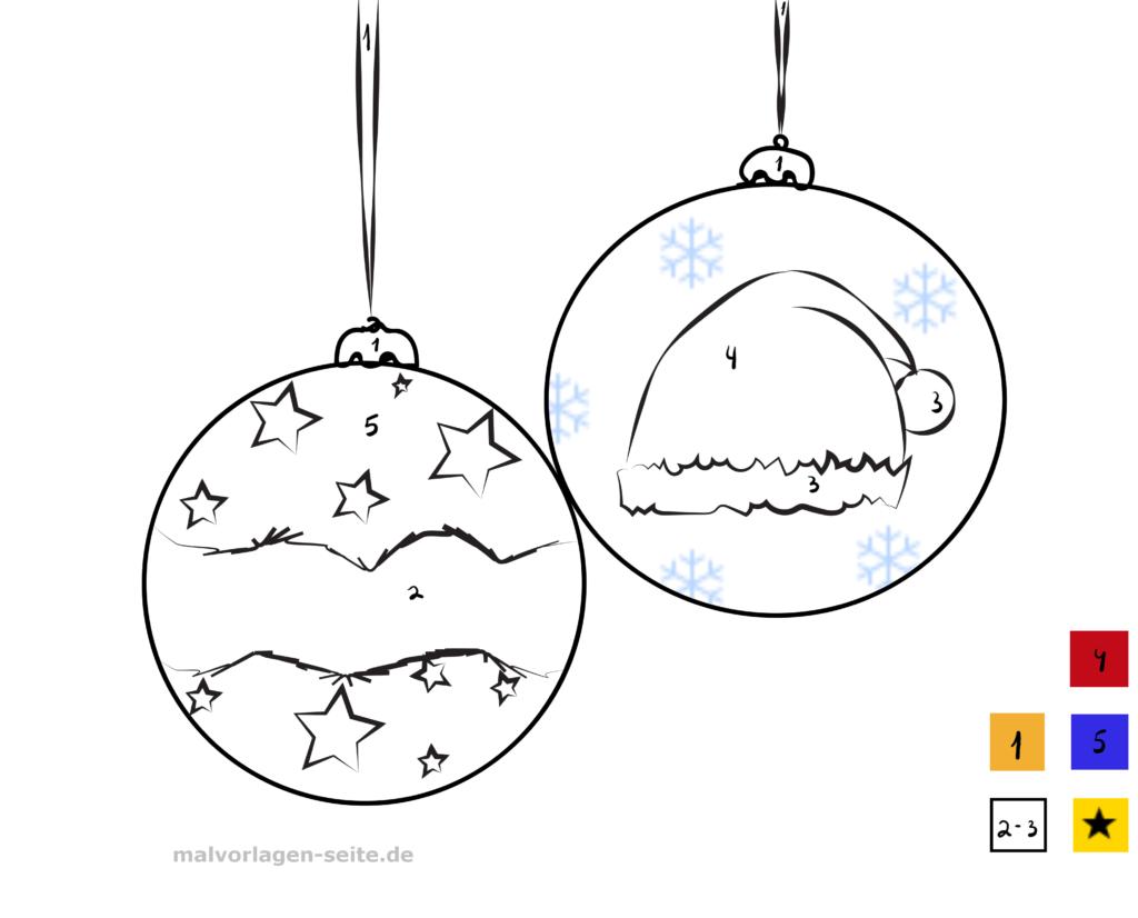 malen nach zahlen  weihnachten  kostenlose ausmalbilder