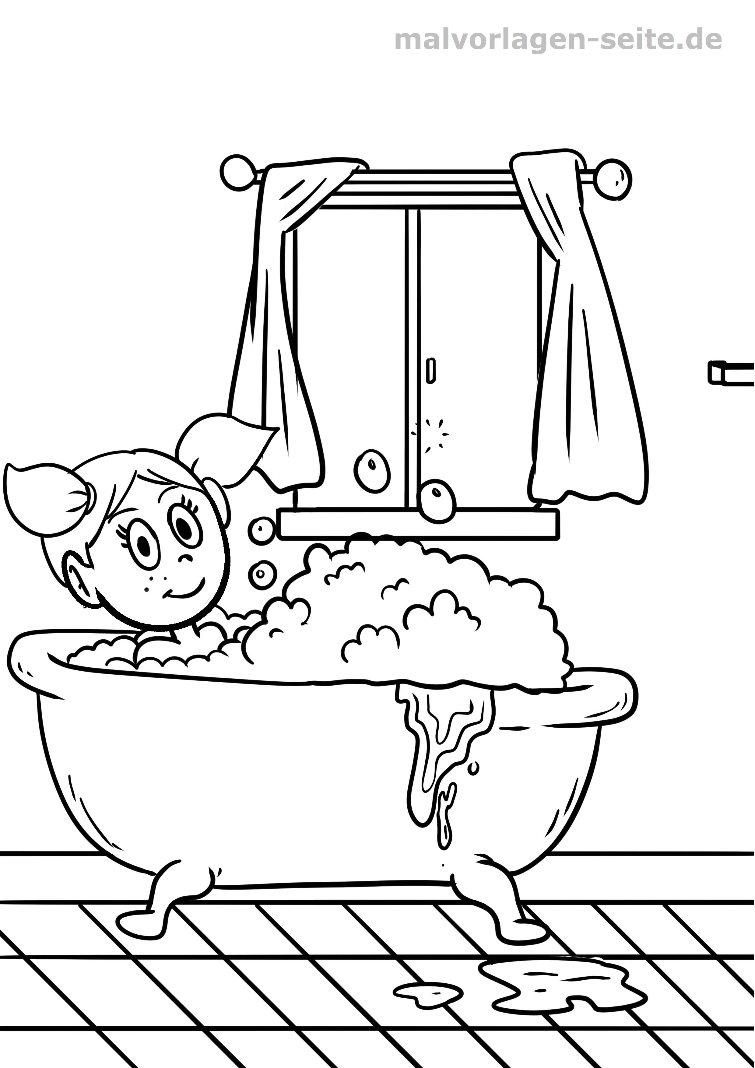 malvorlage badewanne
