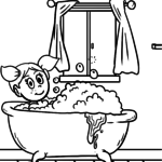 Coloring page bathtub | personal hygiene
