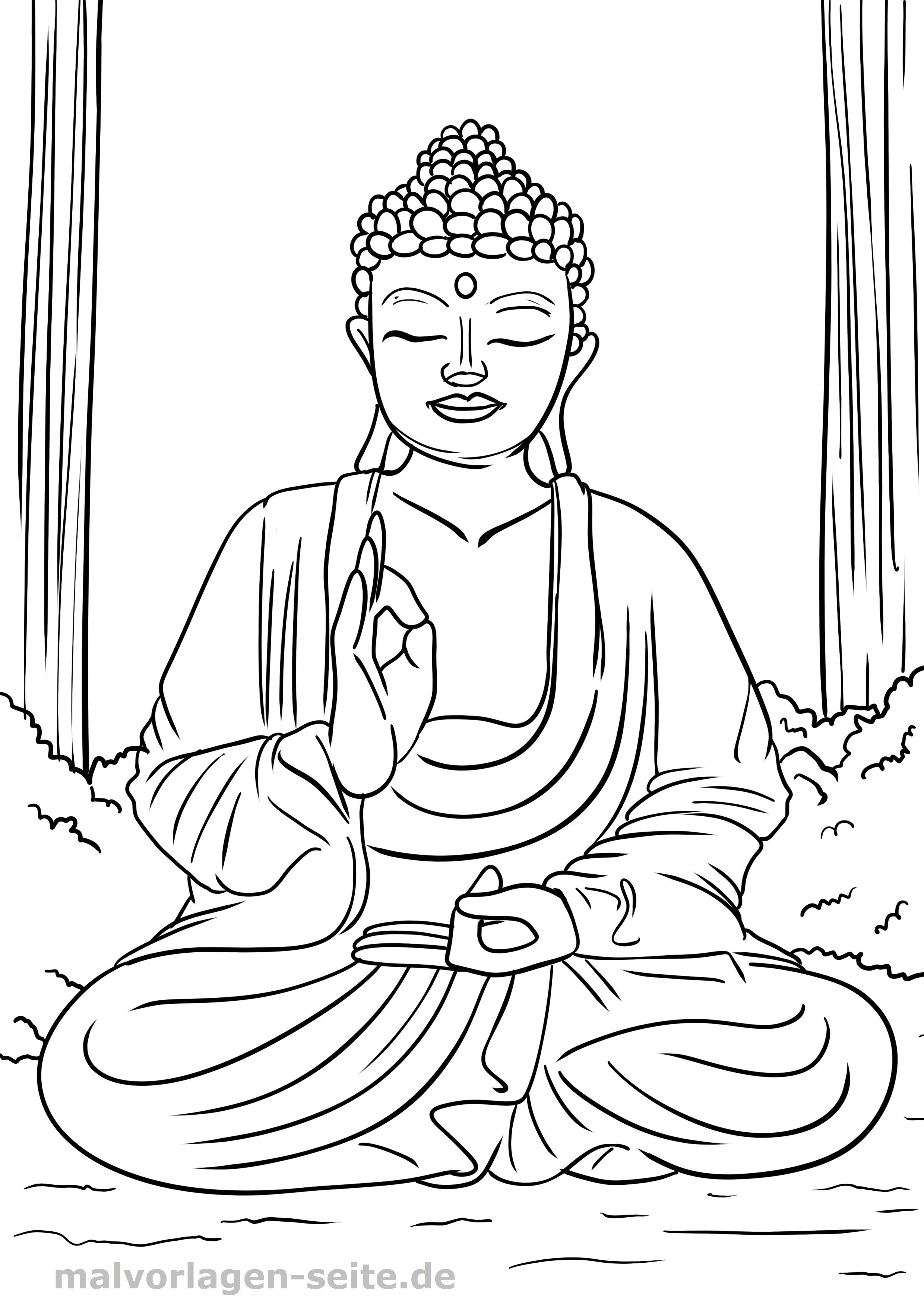 Malvorlagen Buddhismus Religiose Symbole Kennenlernen Und Ausmalen