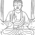 Coloring page Religion - Buddhism