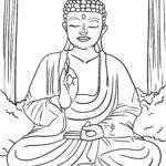 Coloriage religion - bouddhisme