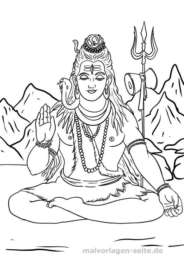 Malvorlage Hinduismus Gottheit