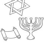 रंग पृष्ठ - यहूदी प्रतीकहरू