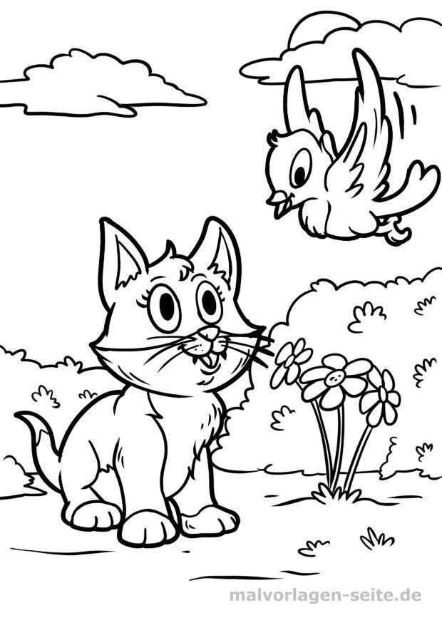 malvorlage katze  kostenlose ausmalbilder