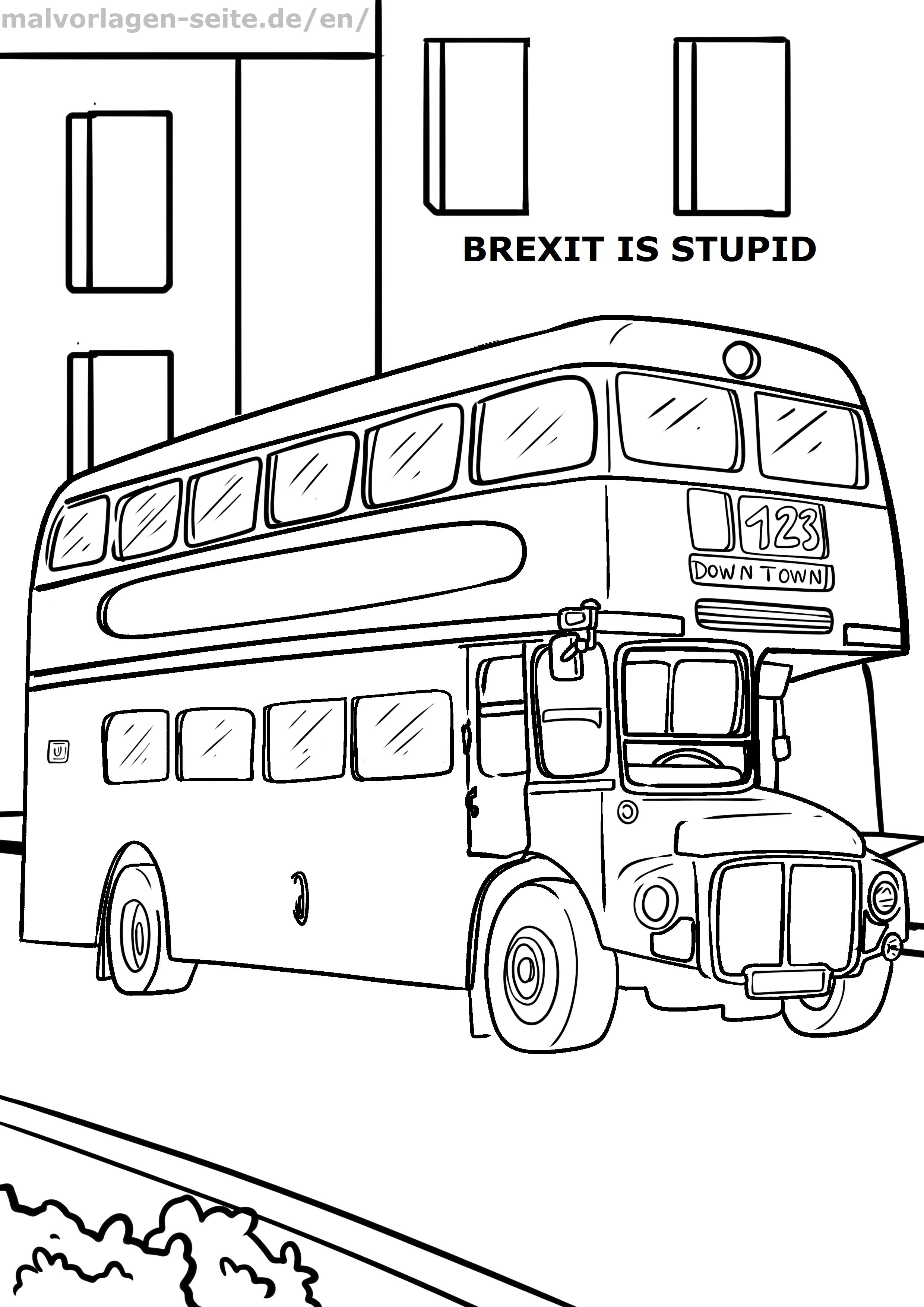 Malvorlage Doppeldecker Bus Fahrzeuge