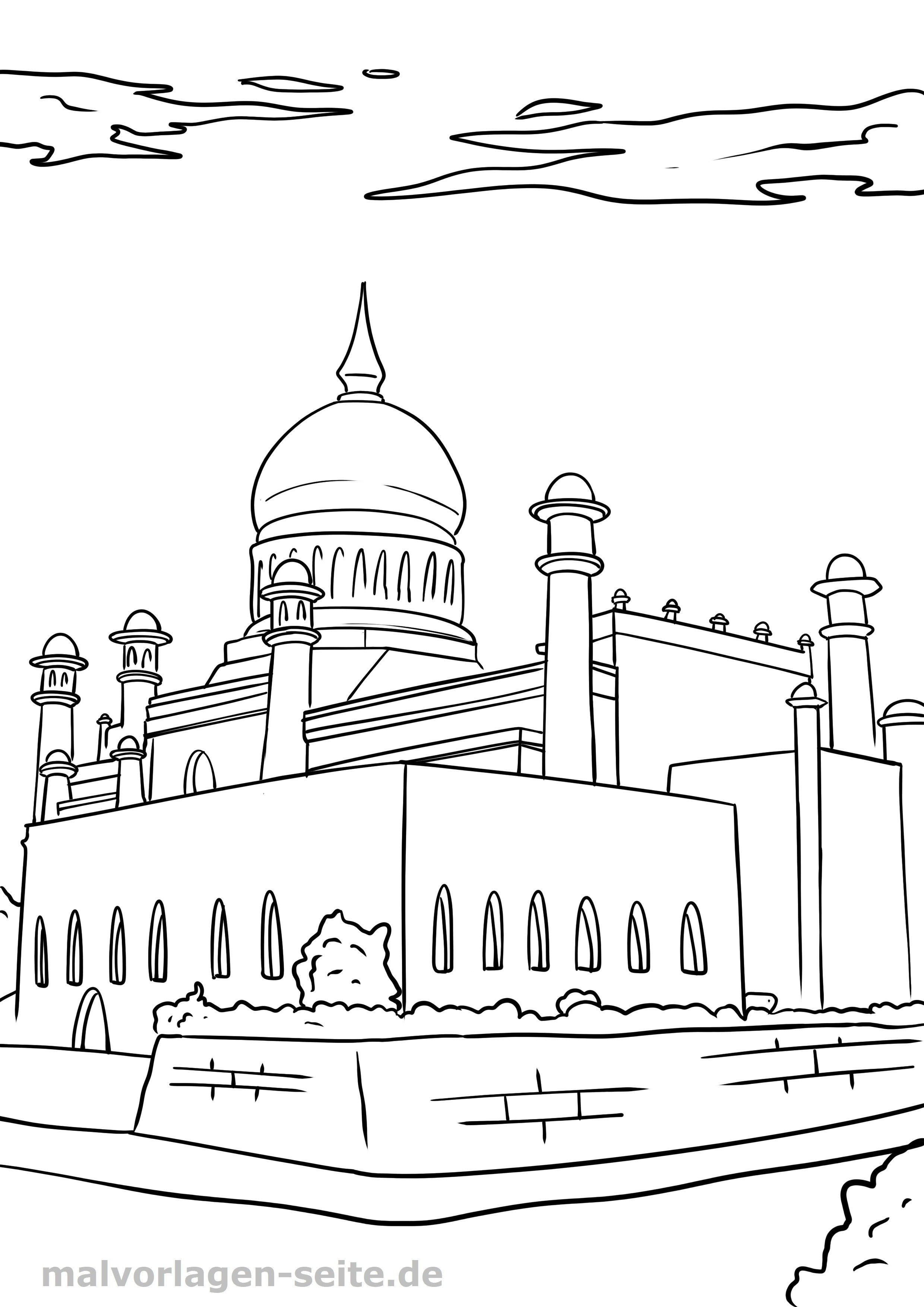 malvorlage religion - islam - kostenlose ausmalbilder
