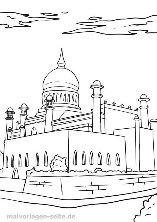 Halaman Mewarna Agama Islam Halaman Pewarna Percuma Untuk Dimuat